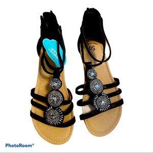Kohls SO Memory Foam Sandals Big Girls Size 4 BNWT